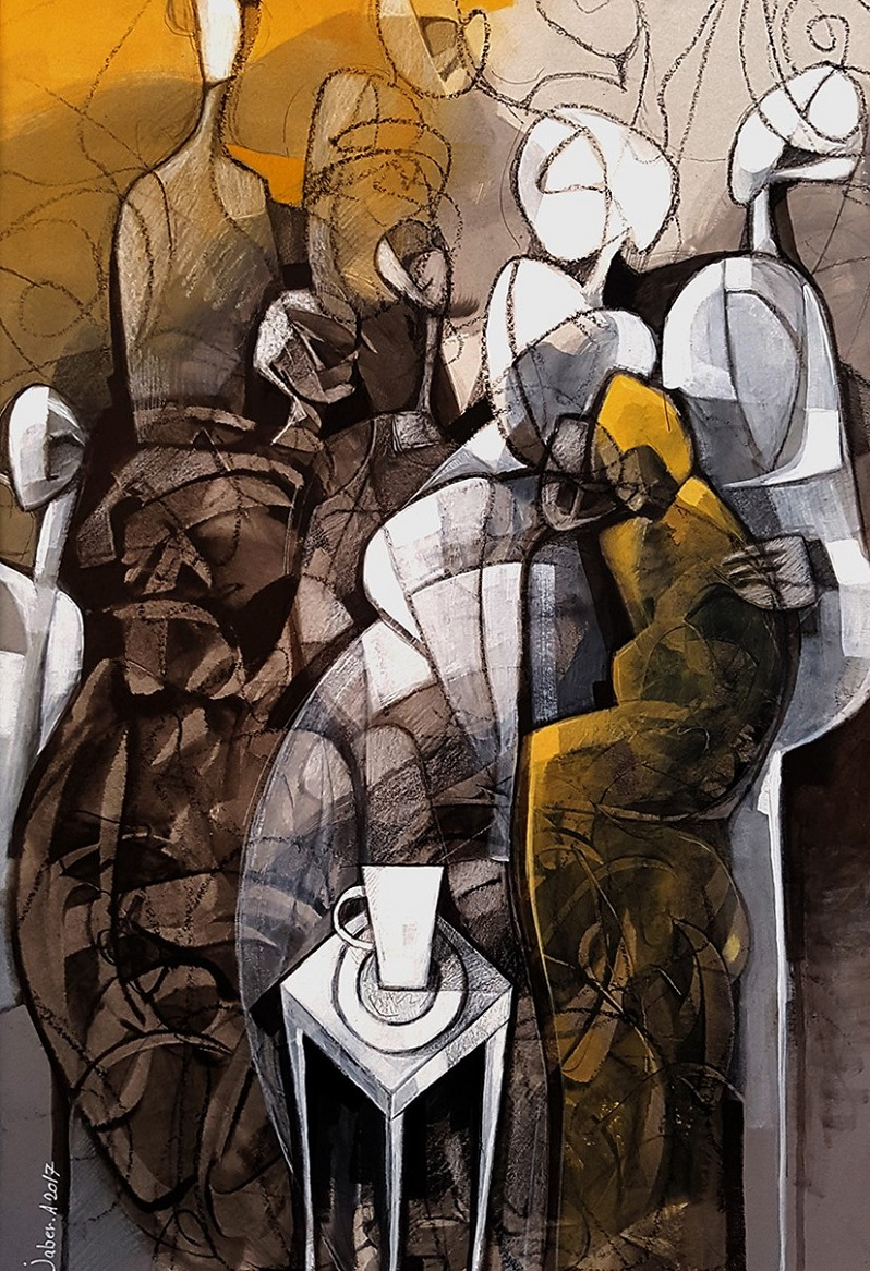 Meet with friends 1 di Jaber Khudhair, Cross Limits Contemporary Art Exhibit