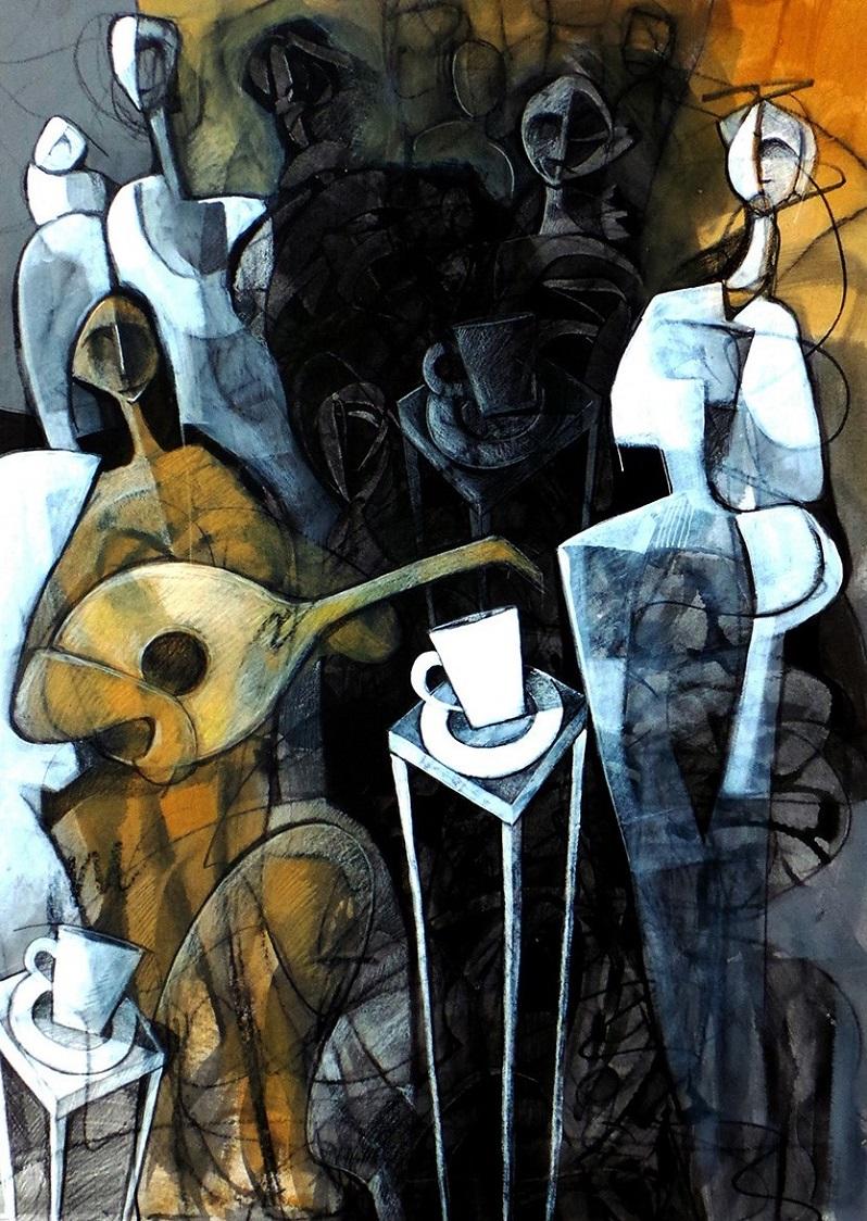 Meet with friends 2 di Jaber Khudhair, Cross Limits Contemporary Art Exhibit