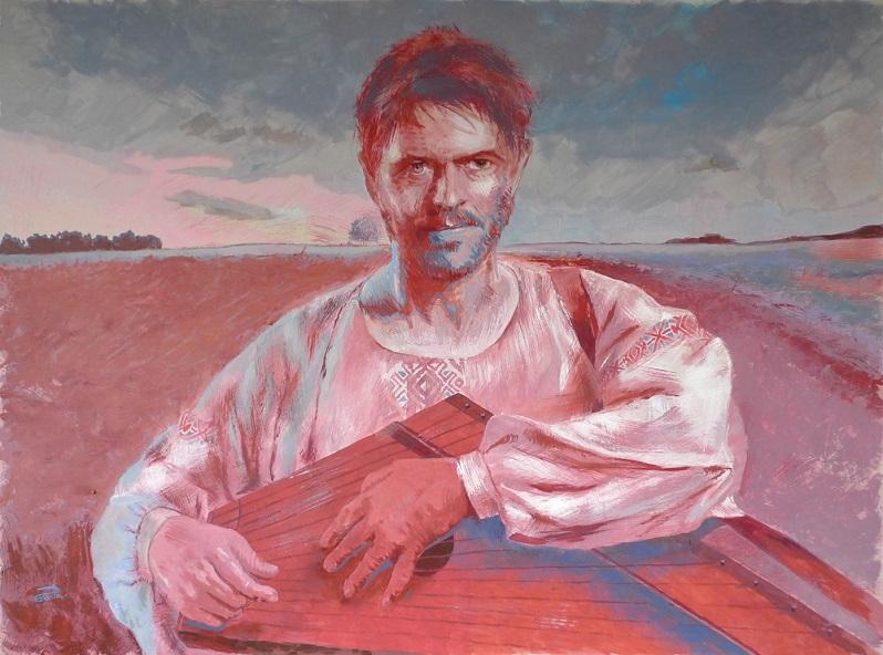 Portrait of David Bowie di Pavel Pashkin, Cross Limits Contemporary Art Exhibit