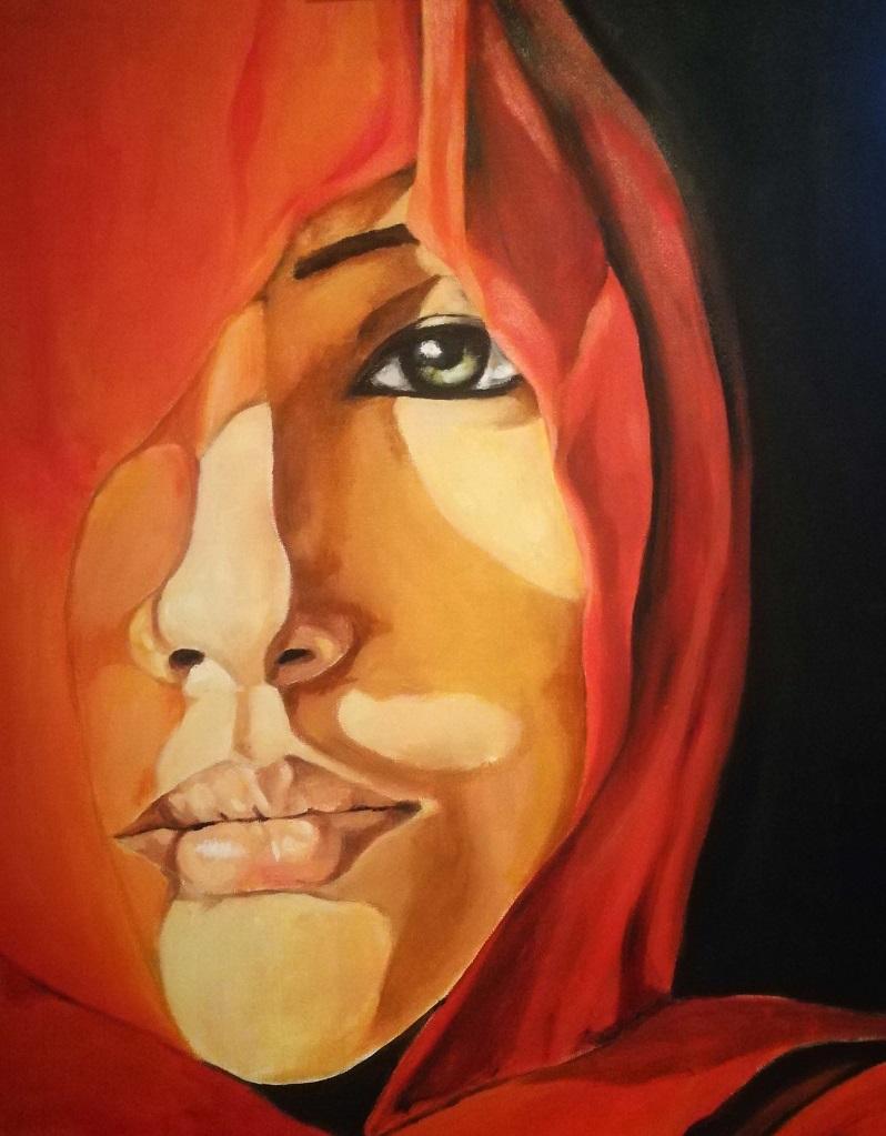 Il volto velato di Paola Risa, Cross Limits Contemporary Art Exhibit