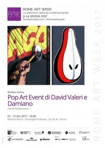 LocandinaRomeArtWeek PopArtEvent DavidValeri Damiano
