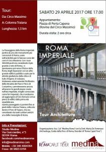 Percorsi Roma Imperiale 29 Aprile